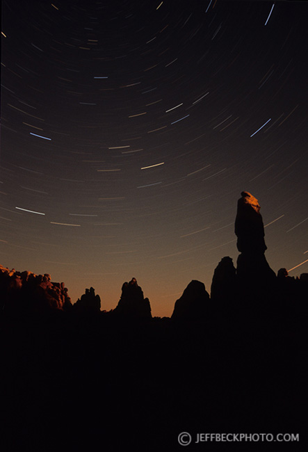 Star Trails at Moonrise