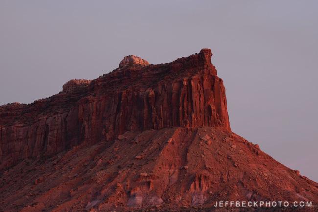 Post-sunset Light, Indian Creek, Utah
