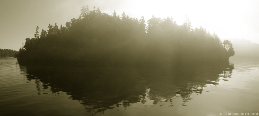Isle Royale First Impression: After a couple of hours crossing open water, we get our first look at the park, and the first impression is just as wild and mysterious as we'd imagined.