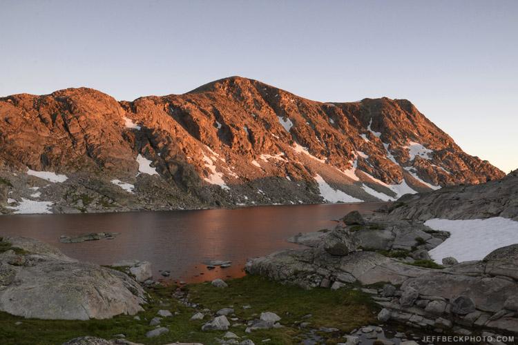 Elbow Lake sunset.
