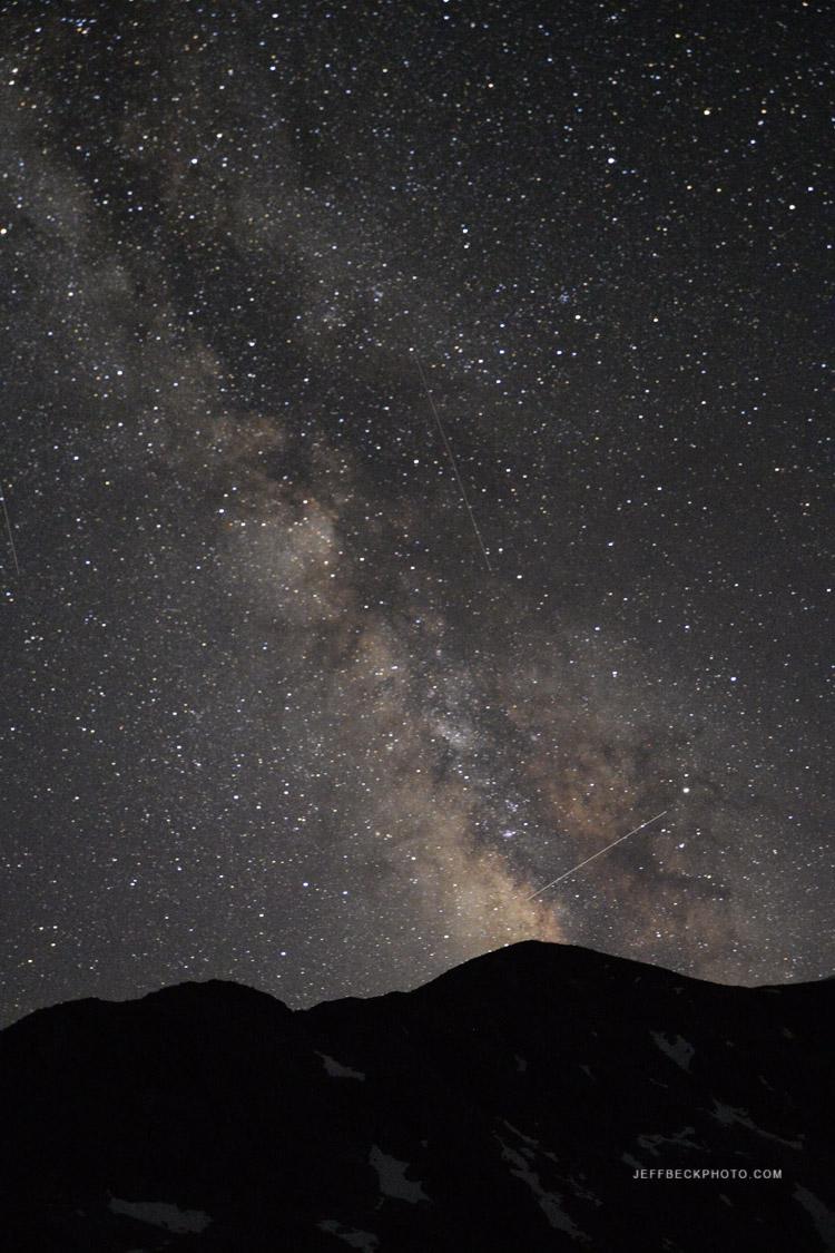 Milky Way above Elbow Peak.
