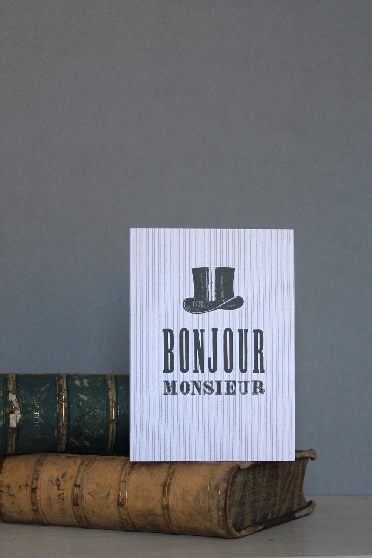 'Bonjour Monsieur' by Studio Seed