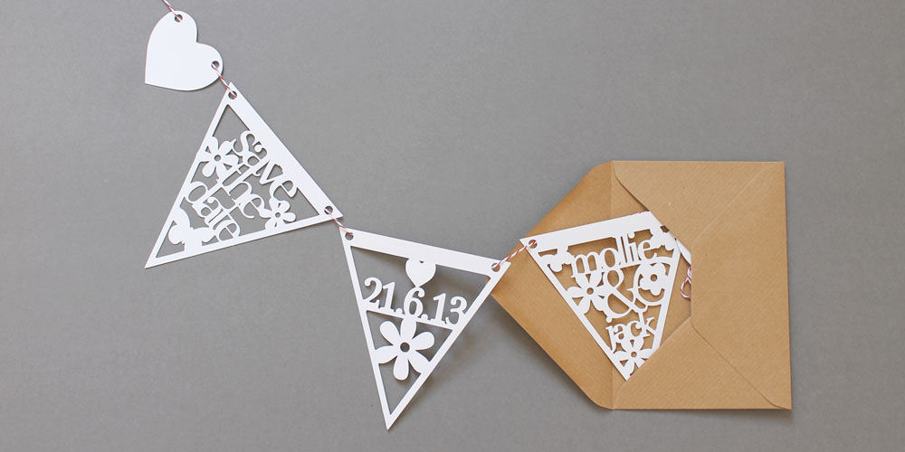 Save the Date Bunting by Studio Seed