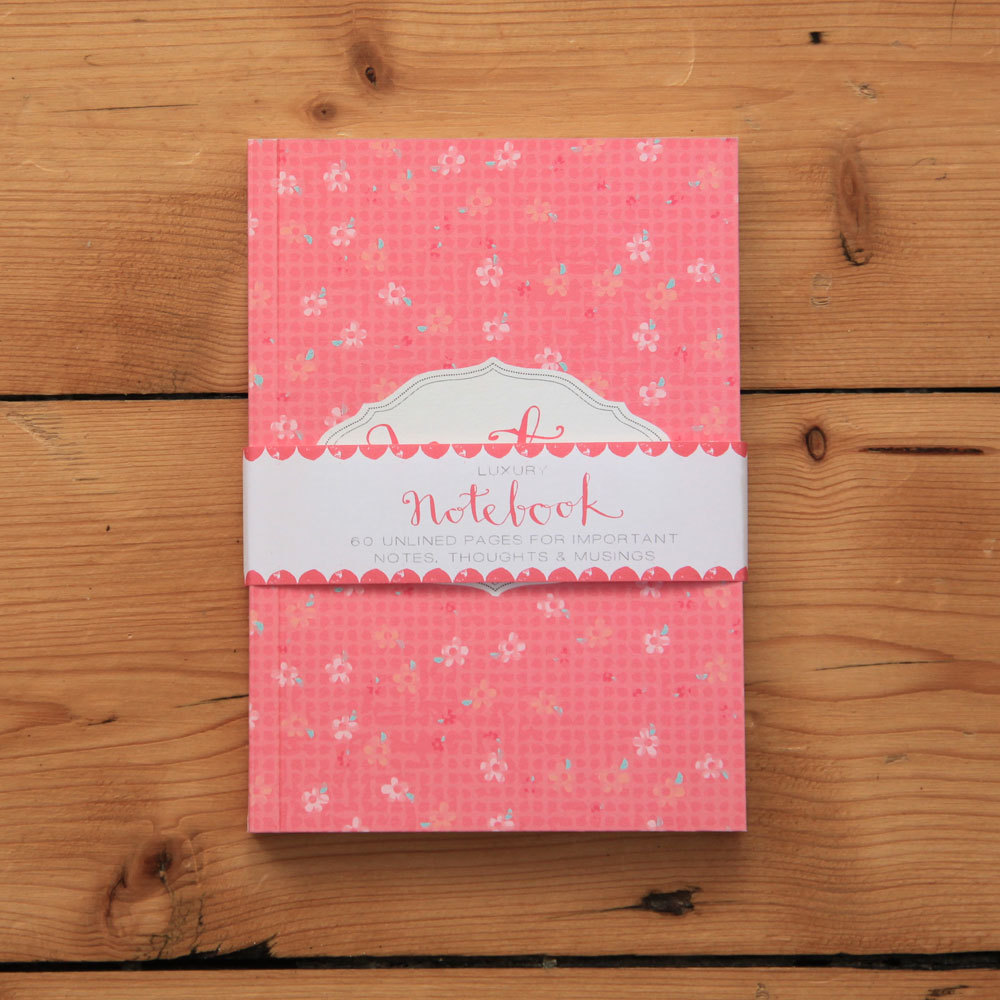 Fashionista - pink floral notebook