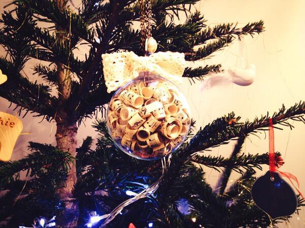 Joanna Kilby's beautiful bauble on Ruth Fletcher's tree