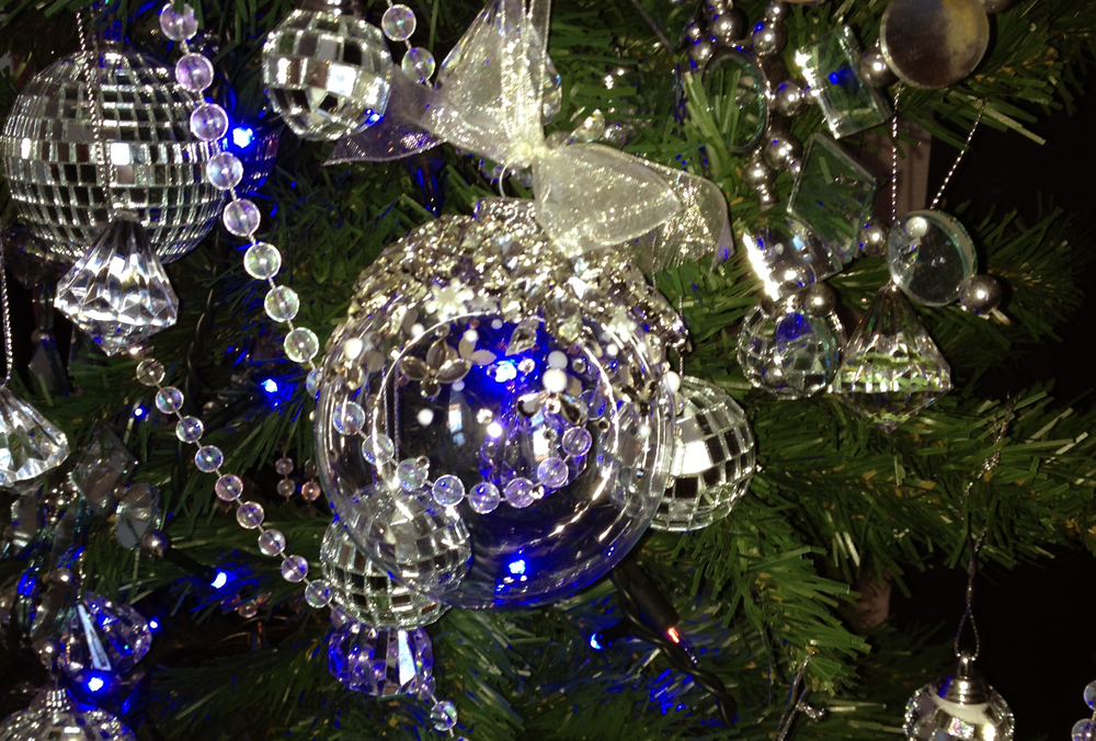 Studio Seed bauble on Leasa Sandham's sparkly tree!