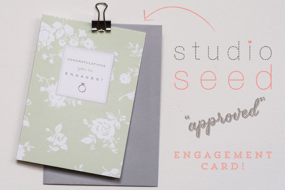 Bijou Blossom engagement card,  © Studio Seed