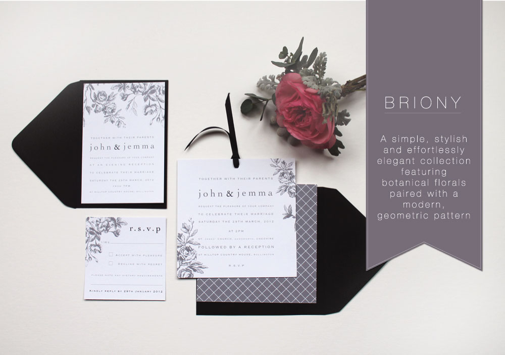 One of our bestselling ranges, 'Briony'
