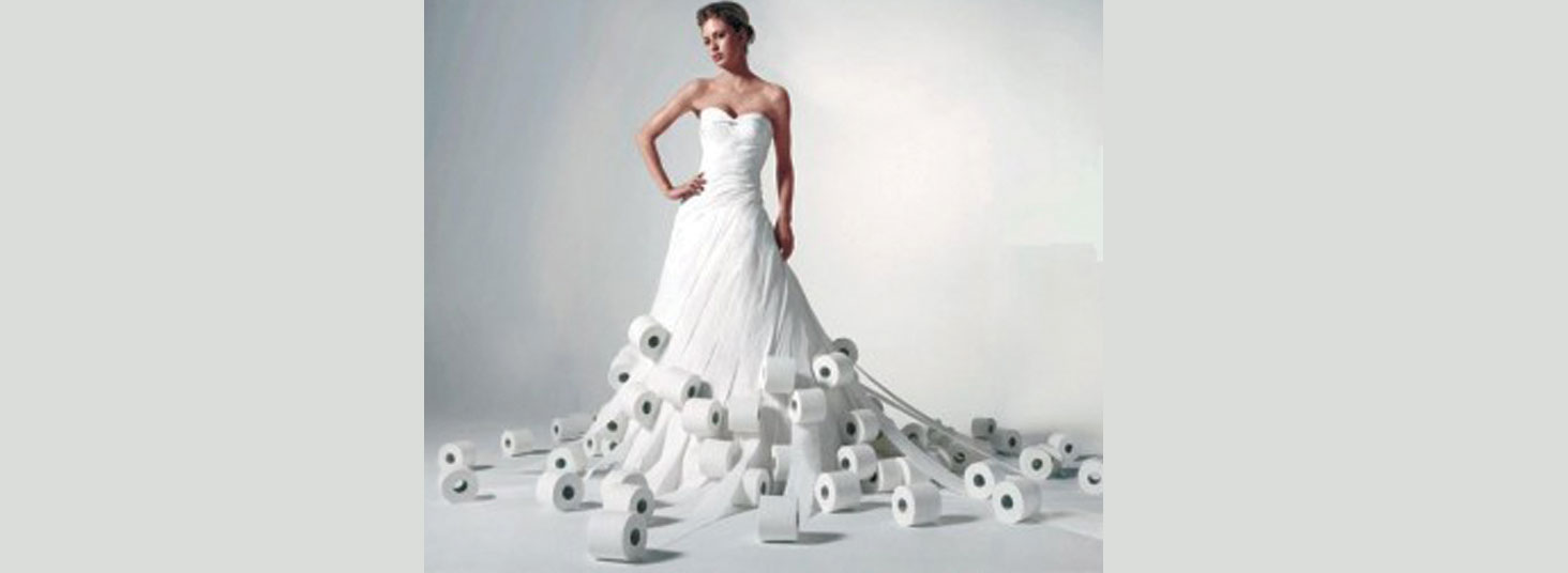 And the Bride wore..... 2 ply.