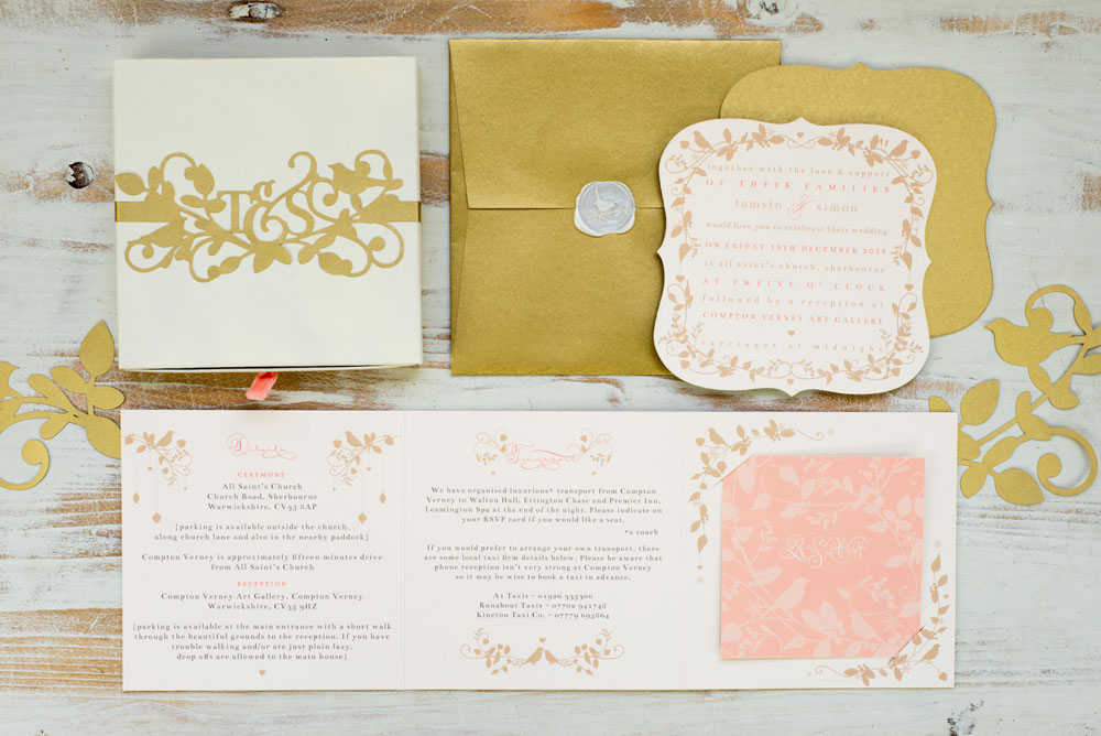 The full daytime invitation suite, photo by Holly Booth