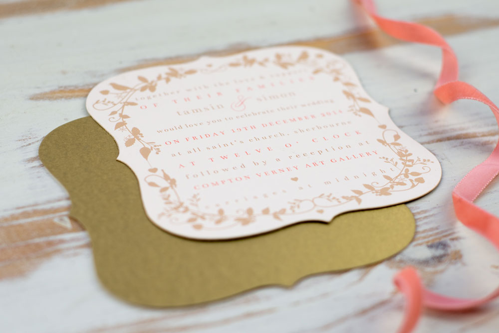 Invitation card. Photo by Holly Booth