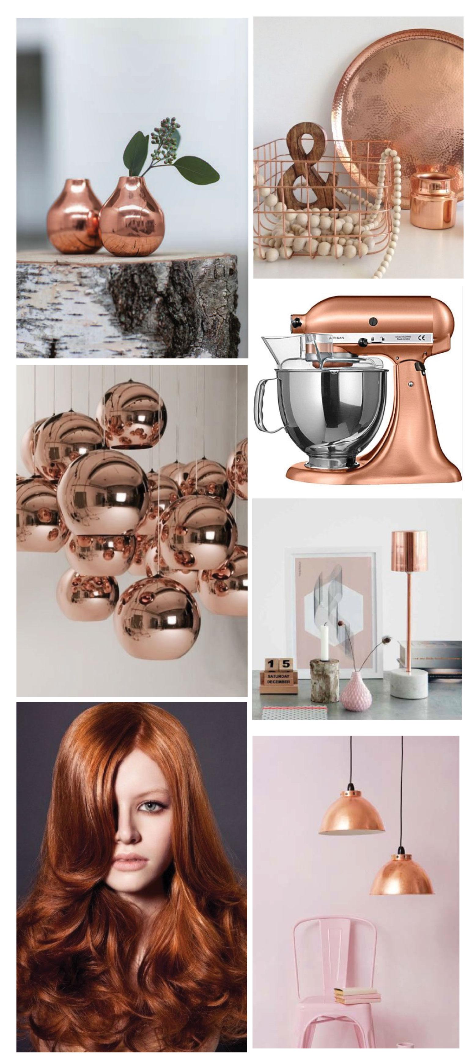 Copper trend: images via Pinterest