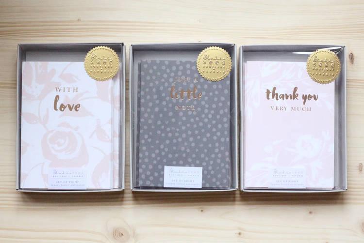'Shine Bright' luxury foiled notecard range
