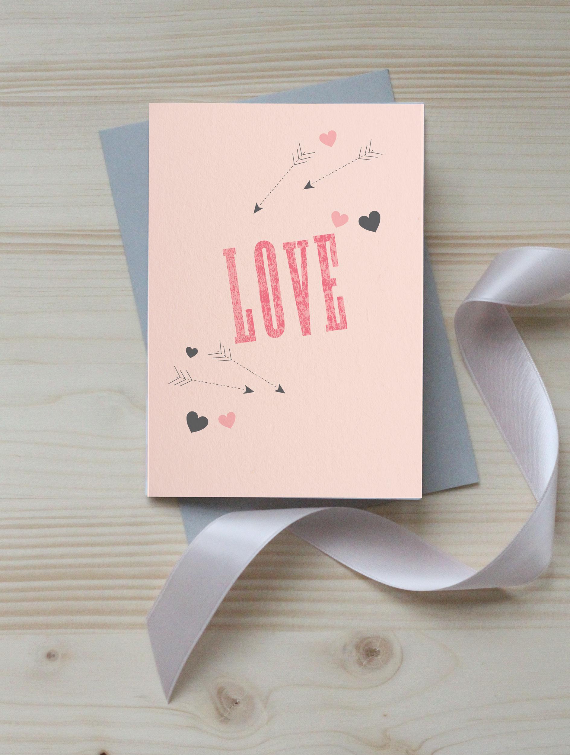 'Love' free Valentine's printable card