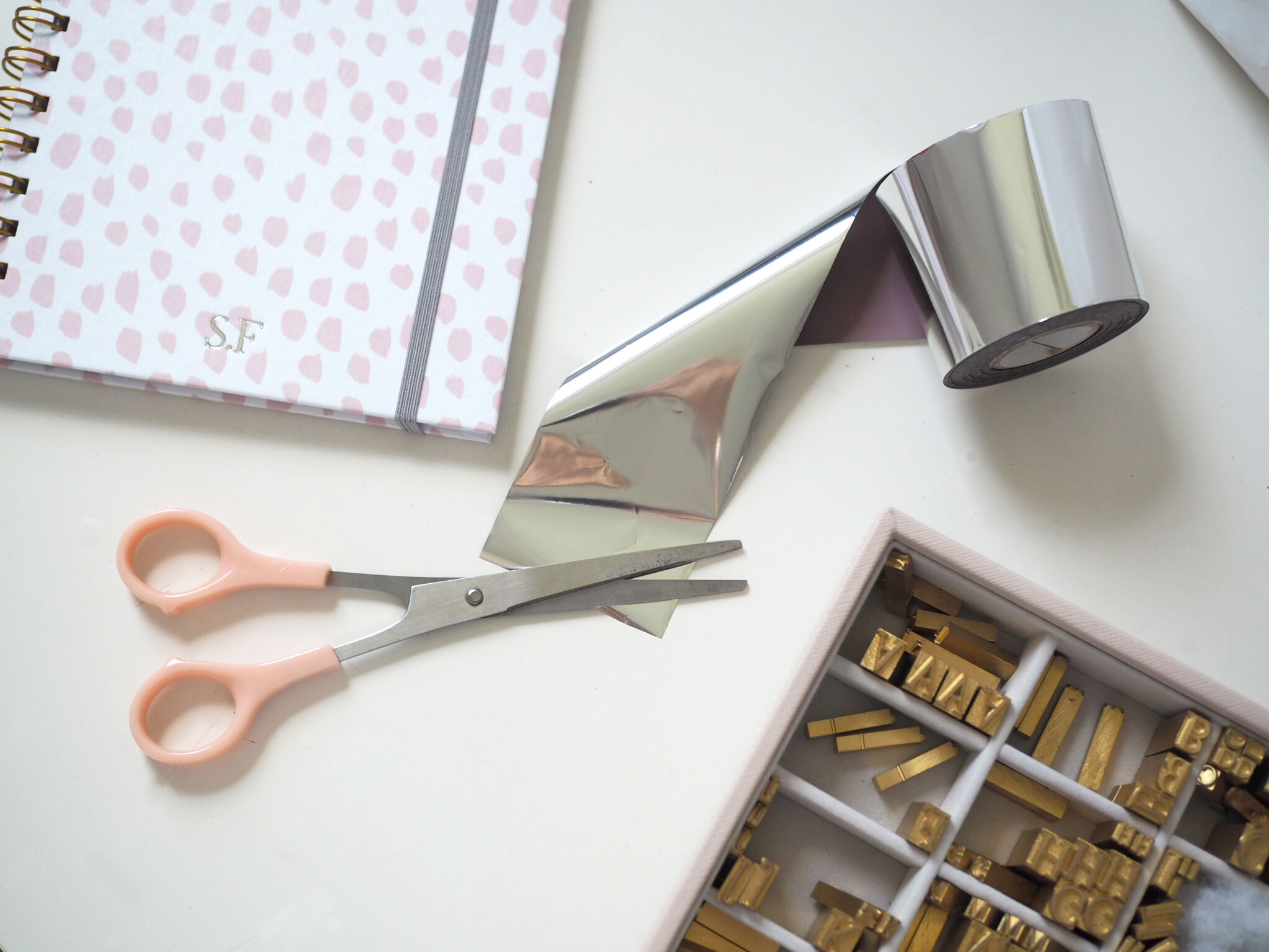 Personalise your stationery with your initials
