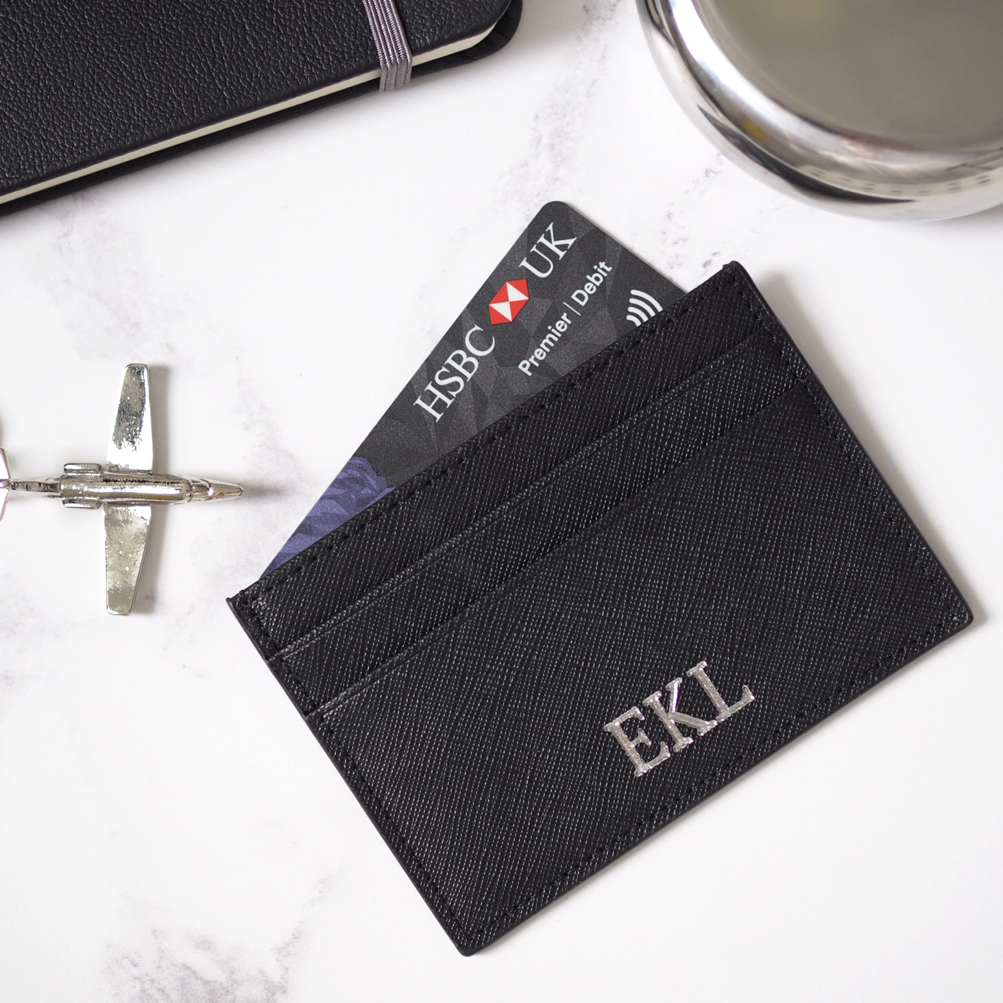 Personalised Leather Card Holder, £19.95