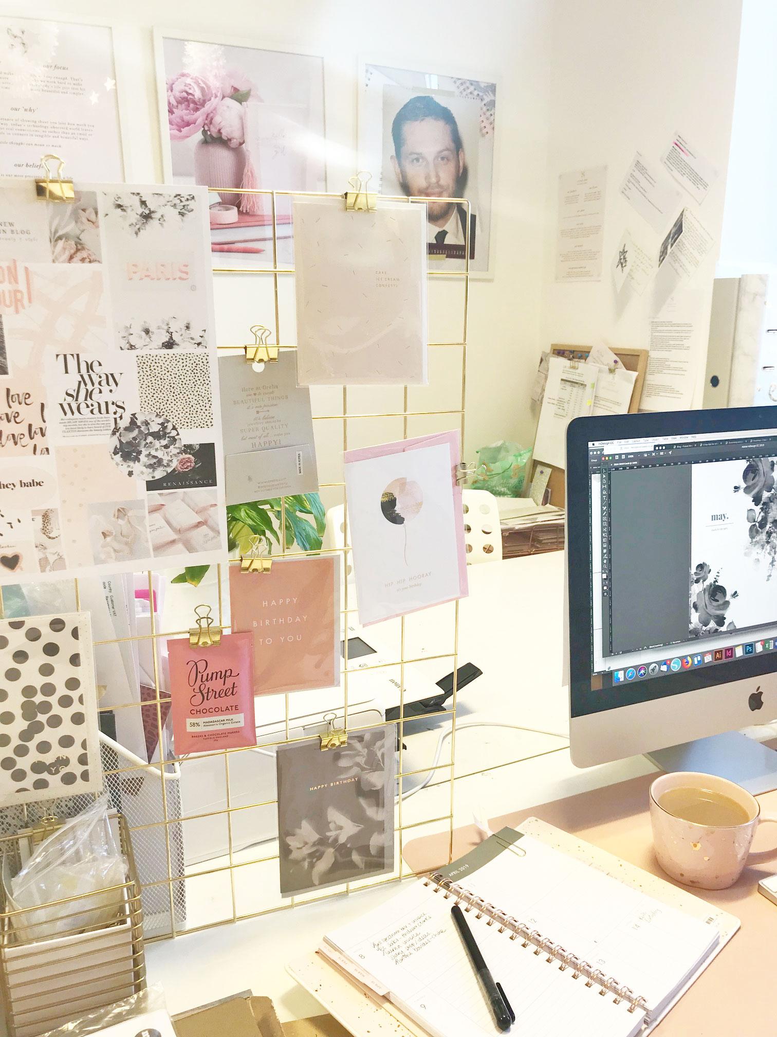 my desk in the studio