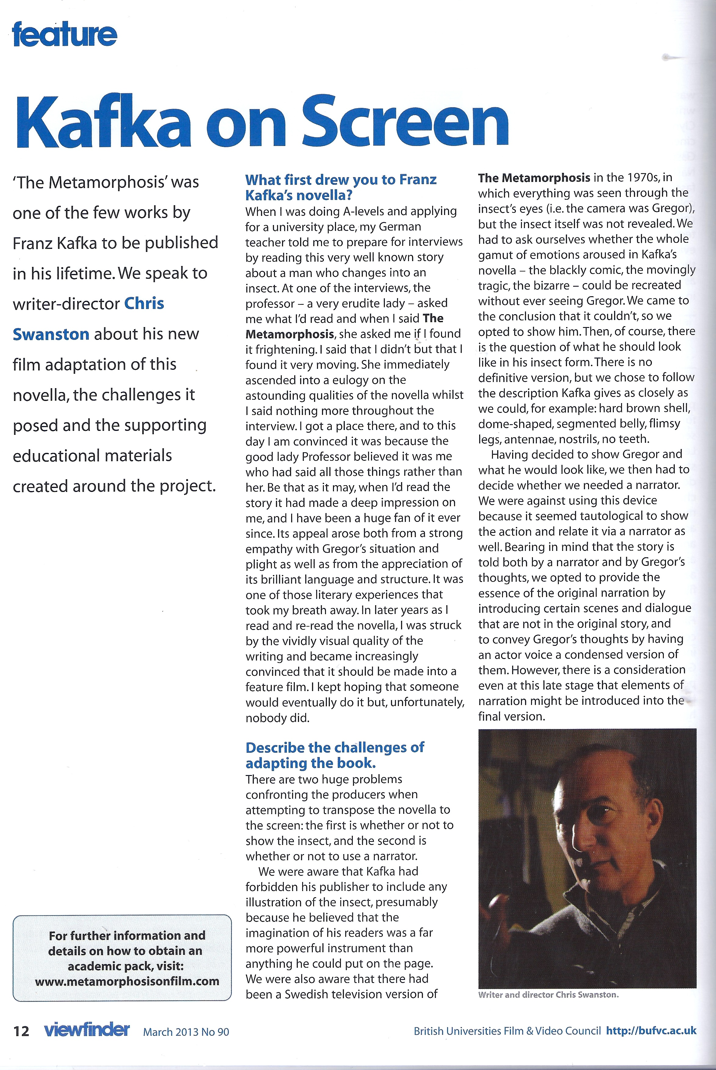 Viewfinder, Issue 90,  May 2013 Page 1