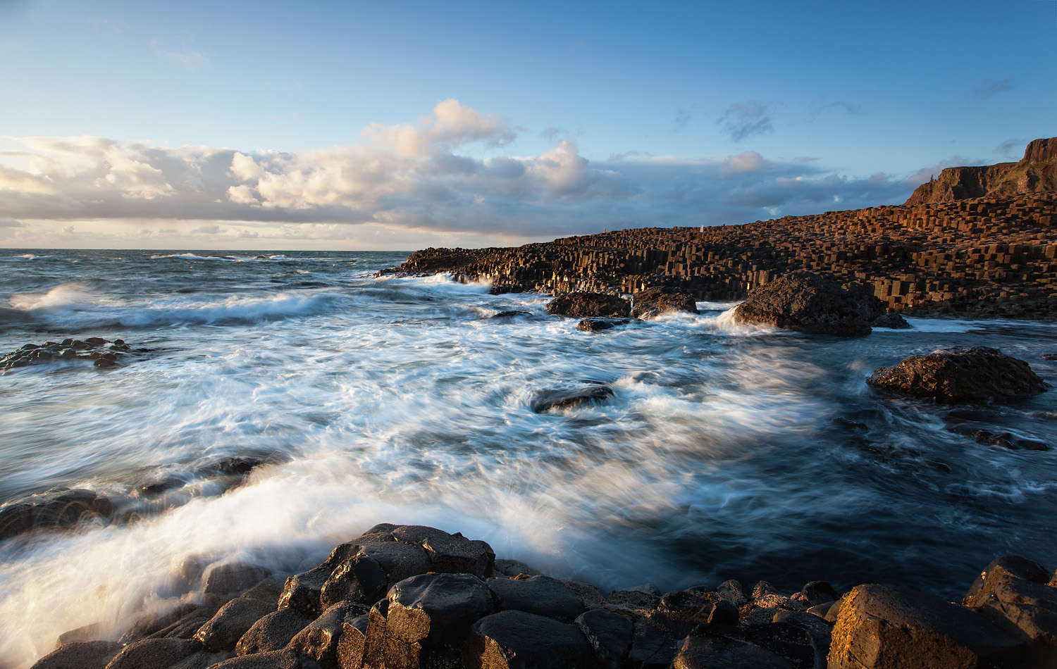 Crashing waves - Giants Causeway Northern Ireland