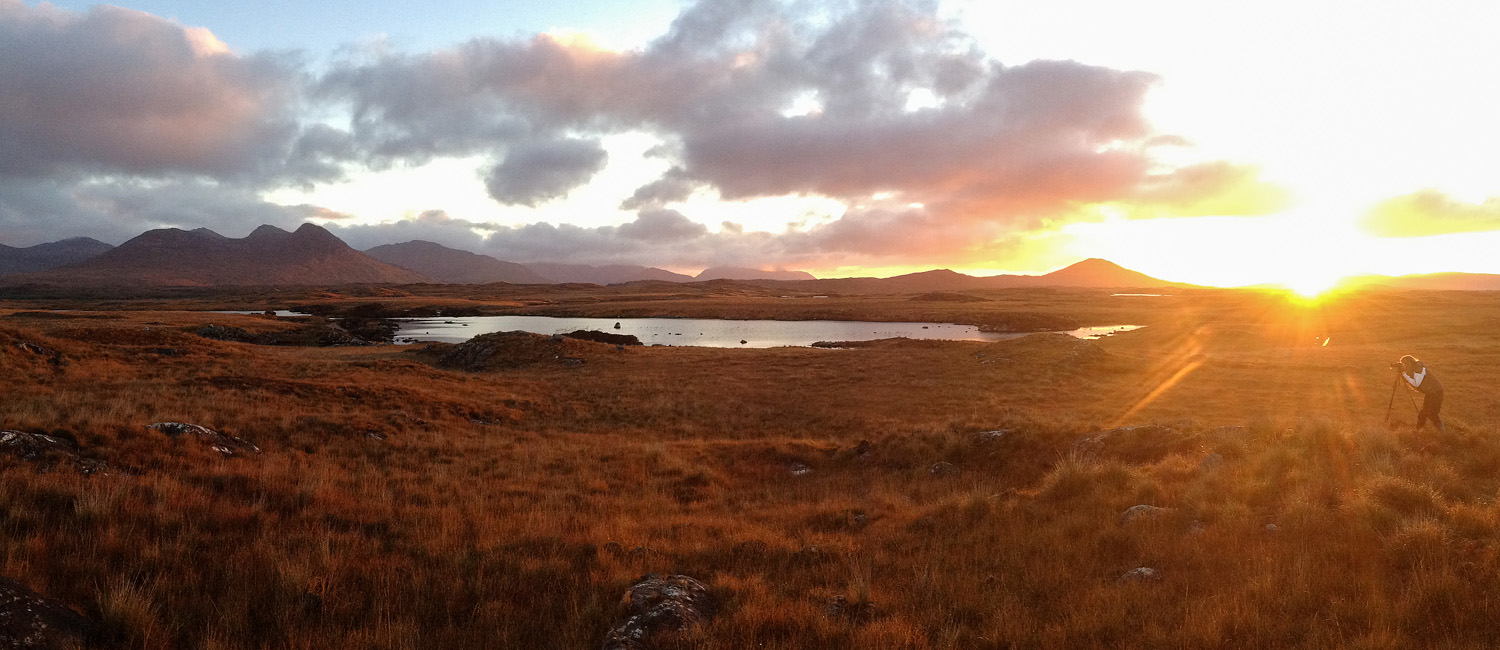 iPhone Pano - Participant at sunrise, Connemara Workshop
