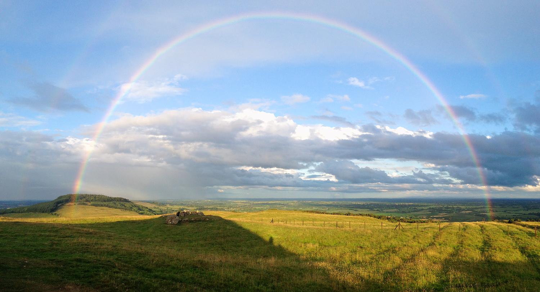 iPhone Panoramic; Loughcrew Rainbow