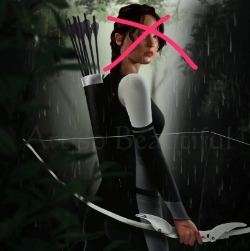 The Hunger Games' Katniss strikes a pose (with editorial cross by Dr. Patty Khuly)