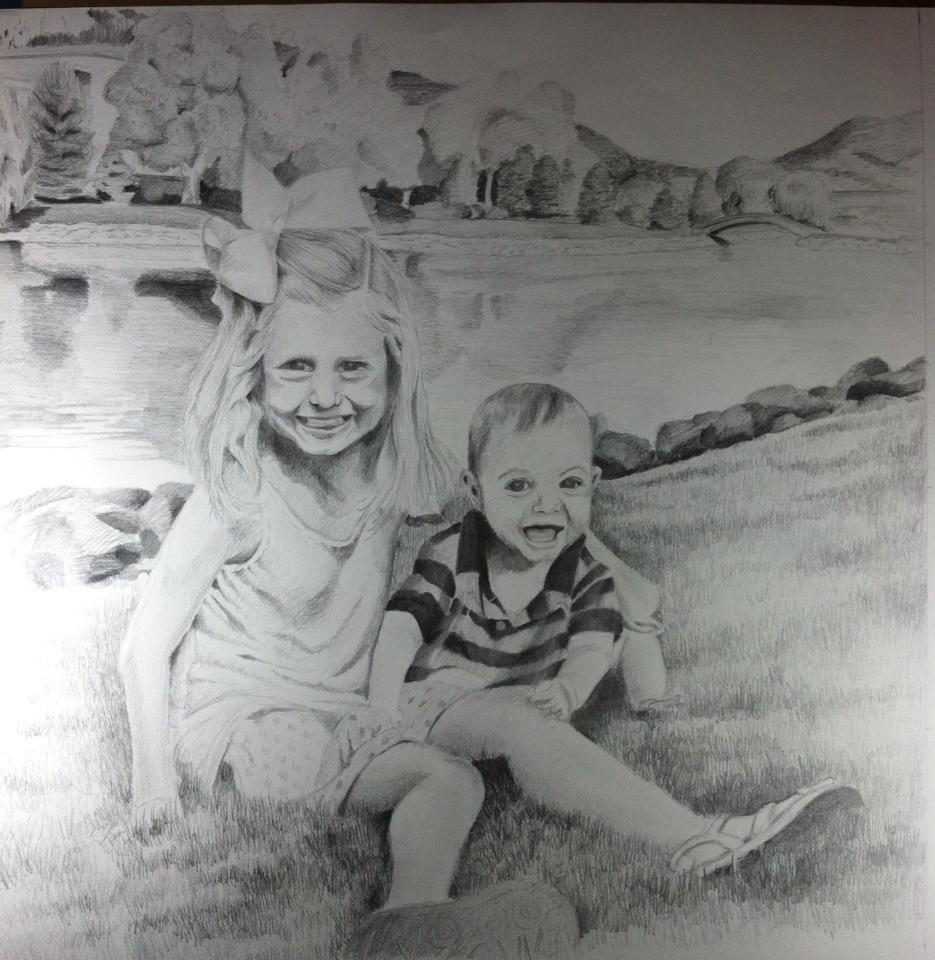 18 X 24 Drawing Pencil  For Mark Clapp-High Point, NC
