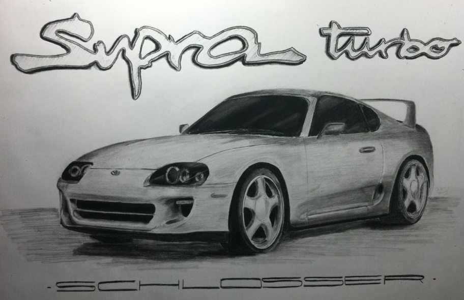 Schlosser Supra    18 x 24 Charcoal    For Mindy and Brian Schlosser-Baton Rouge, LA