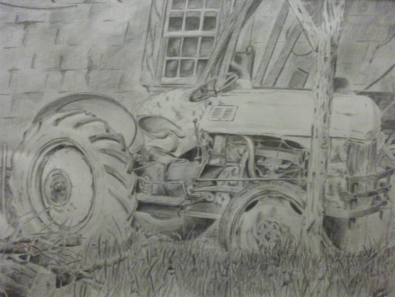 Doc's Tractor    18x24 General's Drawing Pencil    For Justin Cox-Raleigh, NC