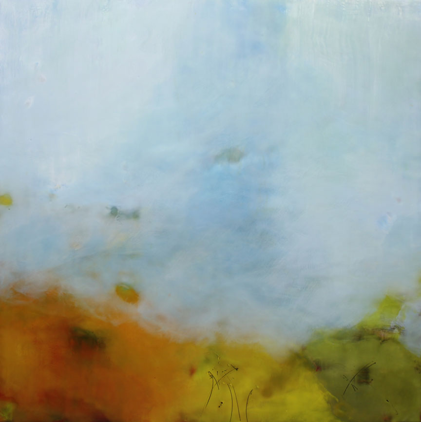 "Remembring the Often  :: 48"" x 48"" :: encaustic"