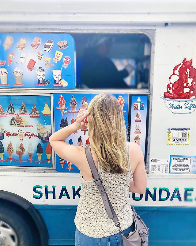 What's your go-to ice cream truck order? 🍦 I'm a chocolate-vanilla twist on a cone with rainbow sprinkles. Rainbow sprinkles taste better than chocolate sprinkles. Don't fight me on this.