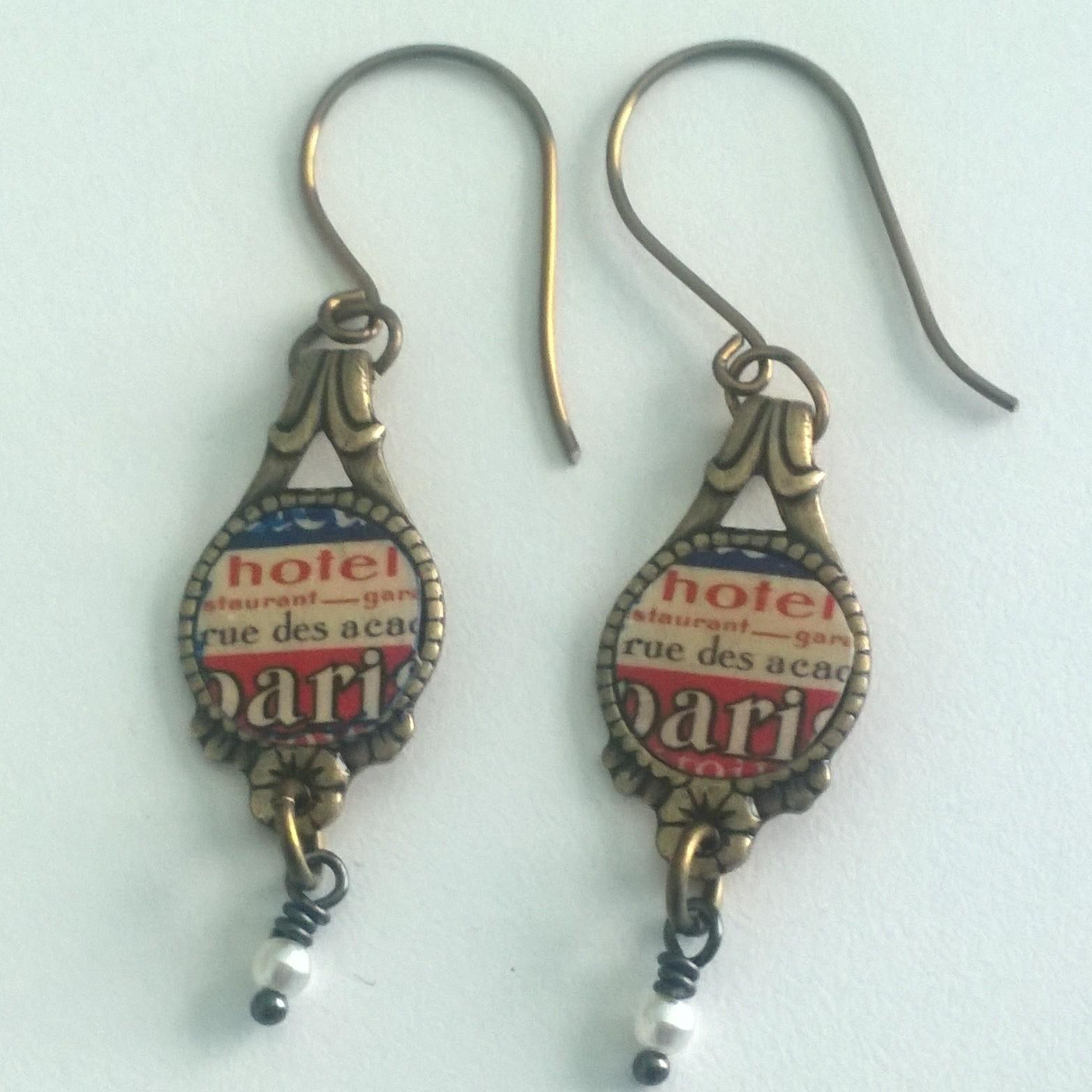 Adorably wearable Travel earrings.