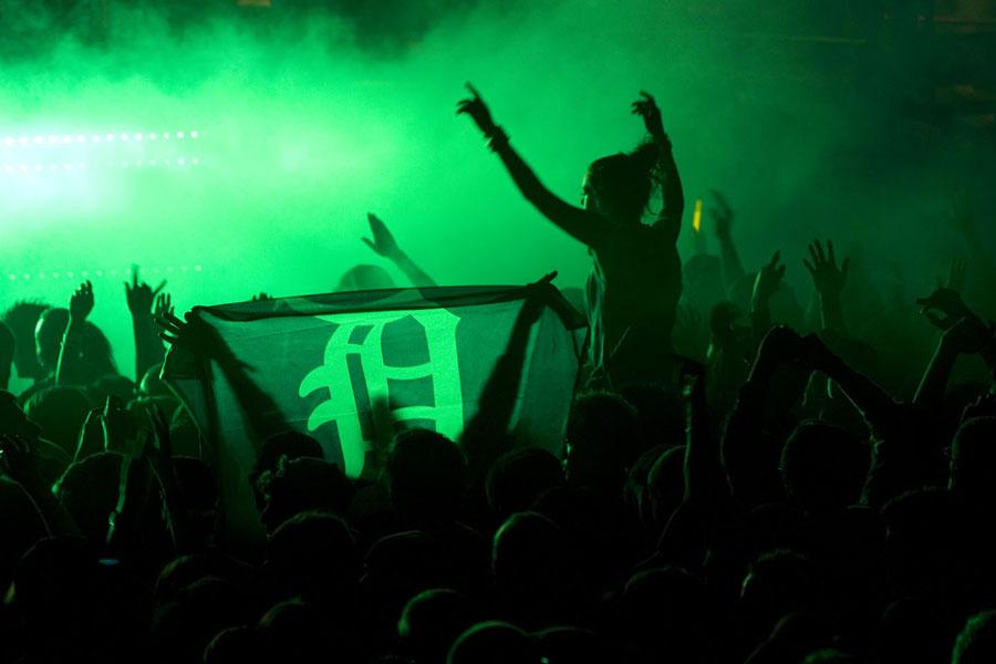 Detroit Electronic Music Festival crowd