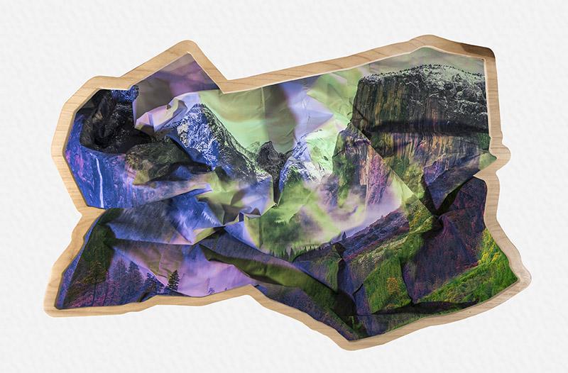 Mountains (purple & green), 2017