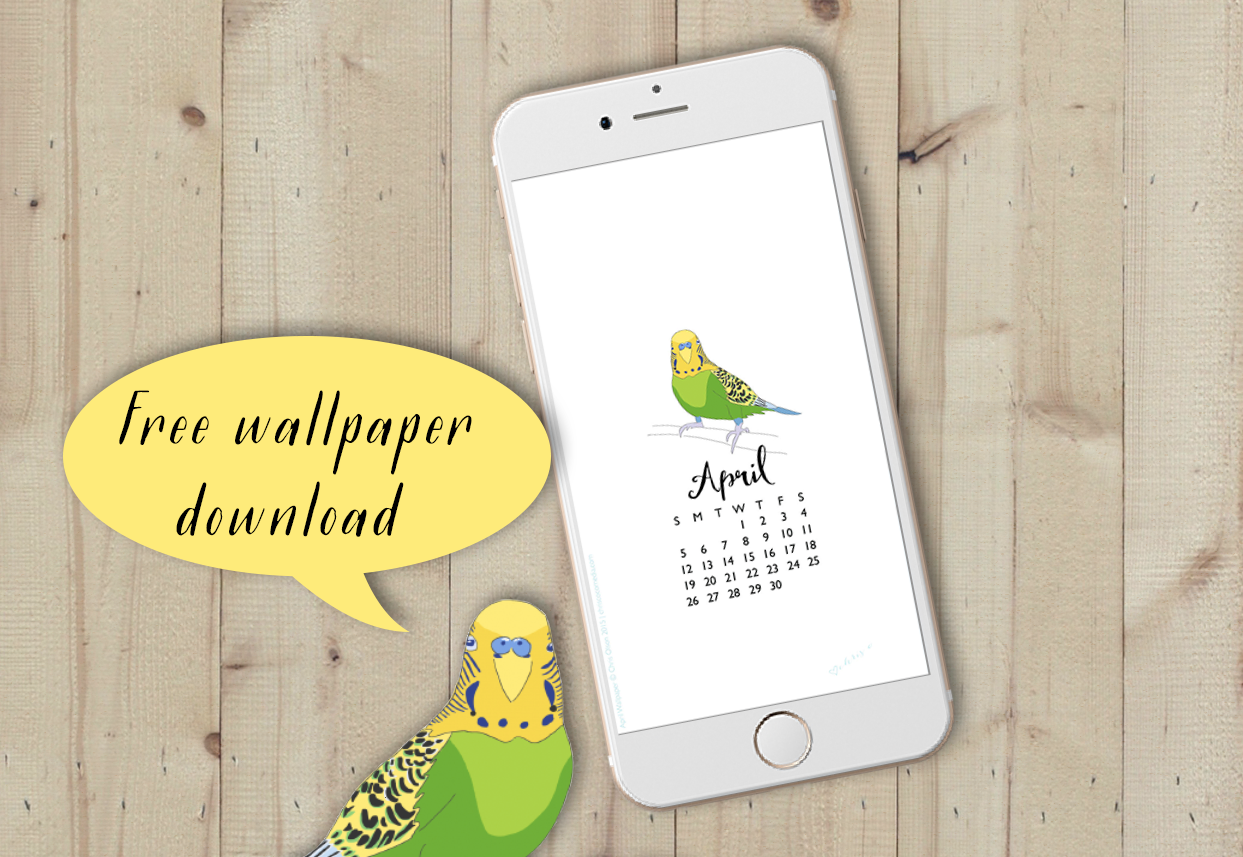 Free April Wallpaper for your iPhone