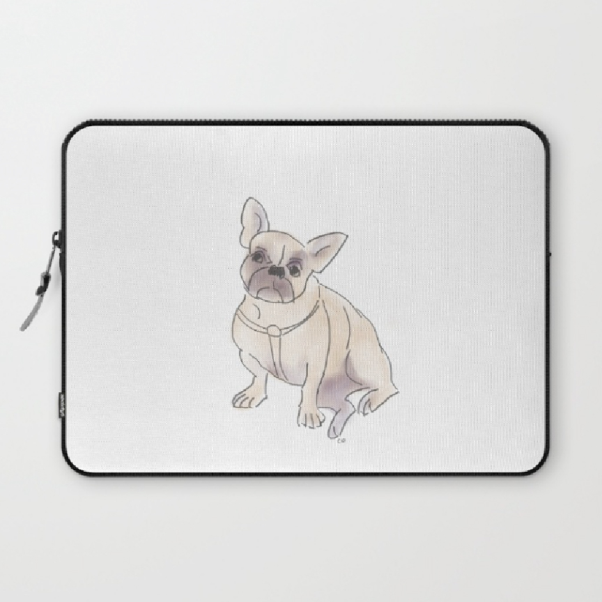 Frenchie on a Laptop Case at Society6. Art by Chris Olson