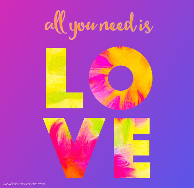 All you need is LOVE wallpaper for your iPhone by Chris Olson.