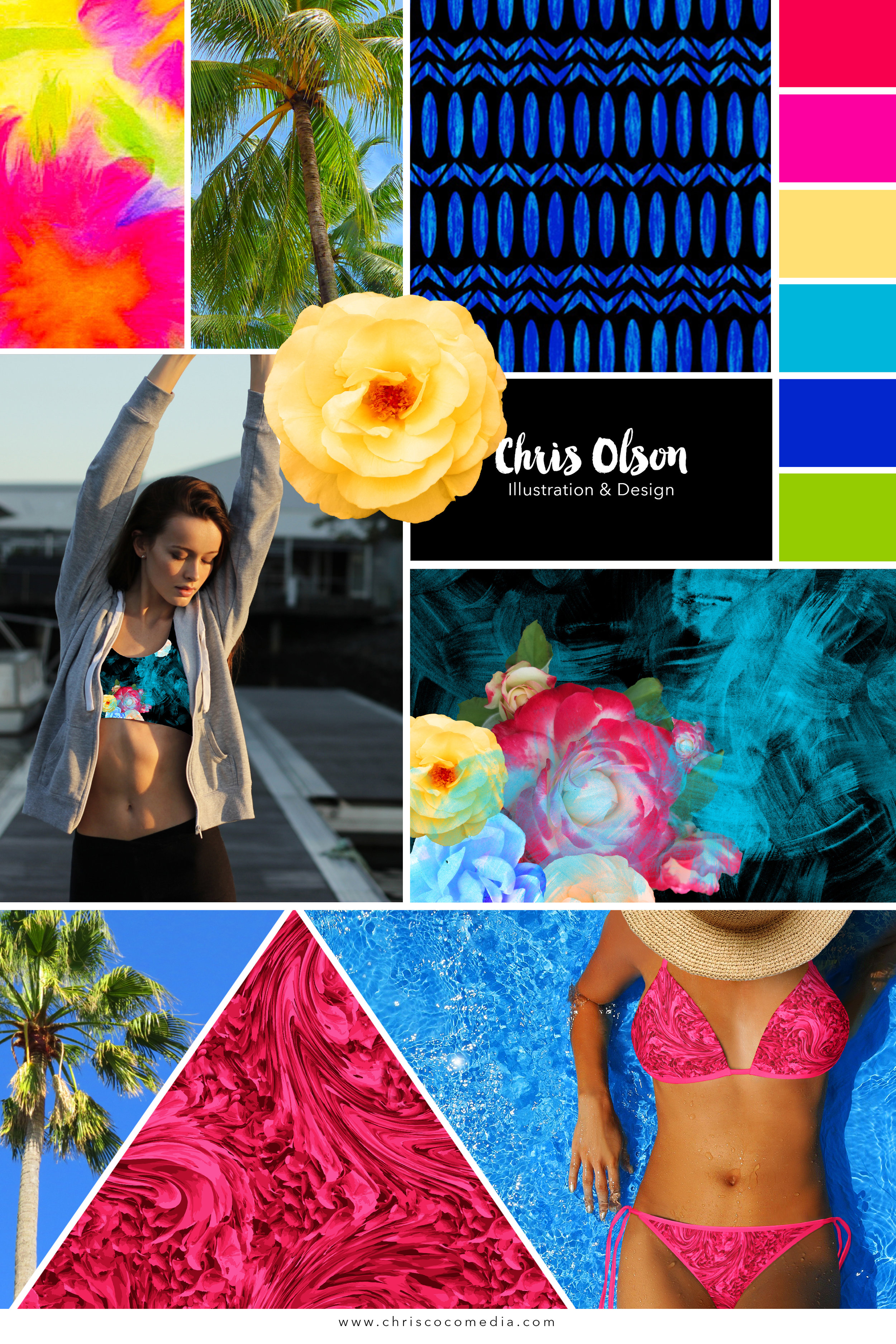 Cali Textile Collection for activewear by Chris Olson