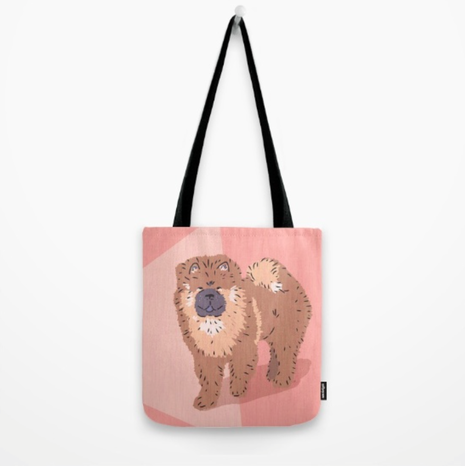 Chow Chow tote bag by Chris Olson