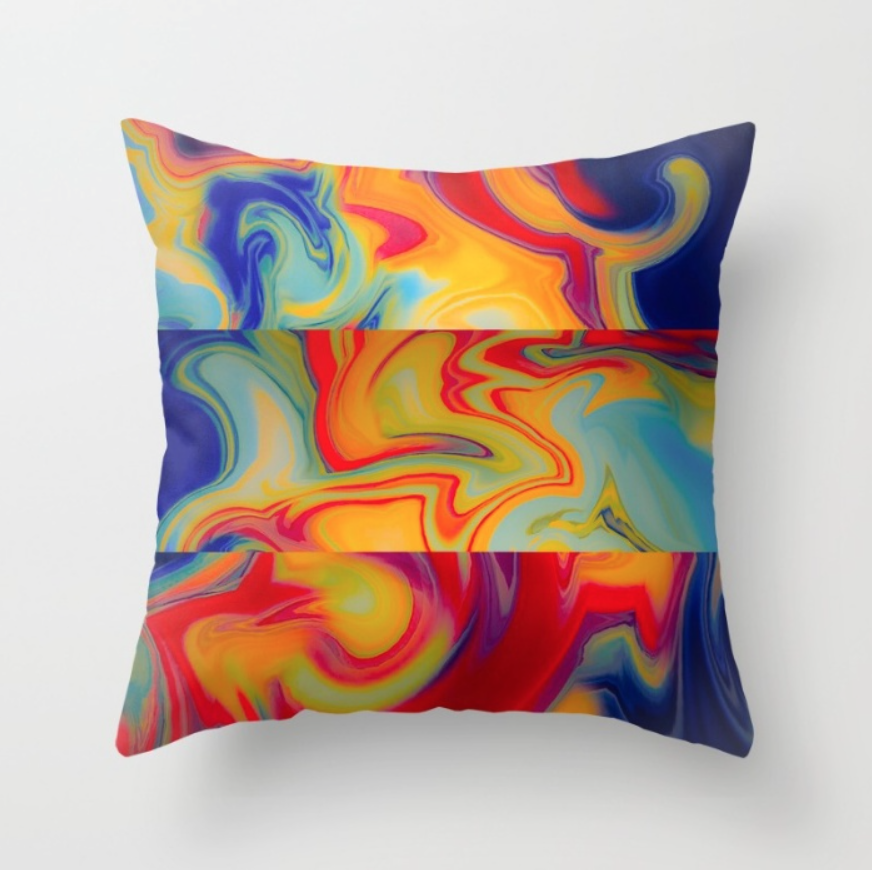 Marble Waves pattern on a  pillow  by Chris Olson. You can buy the cover and pillow insert or just the cover in a variety of sizes.