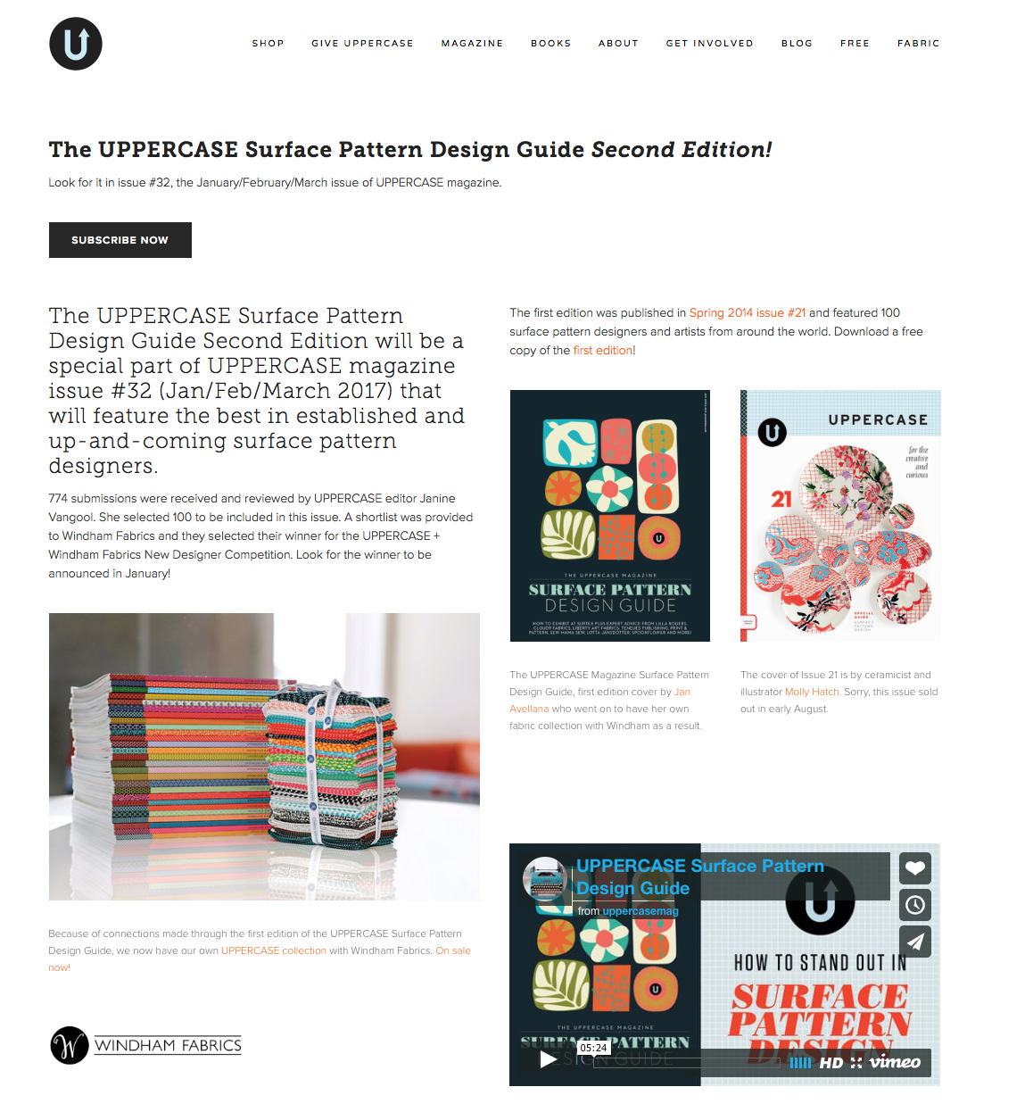UPPERCASE Surface Pattern Design Guide.