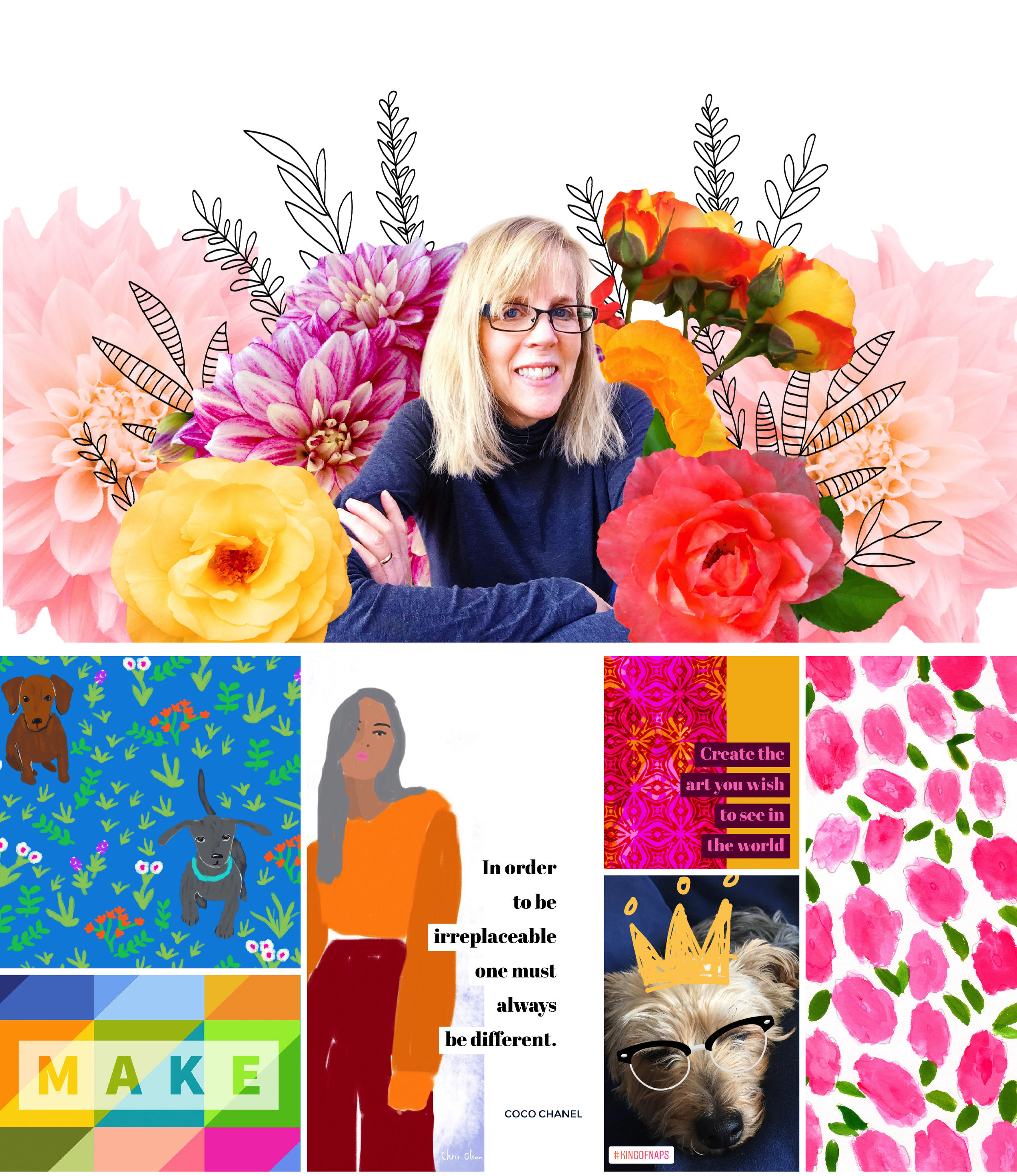 A peek at my images included in the Pattern Observer blog post today all about artists and social media.