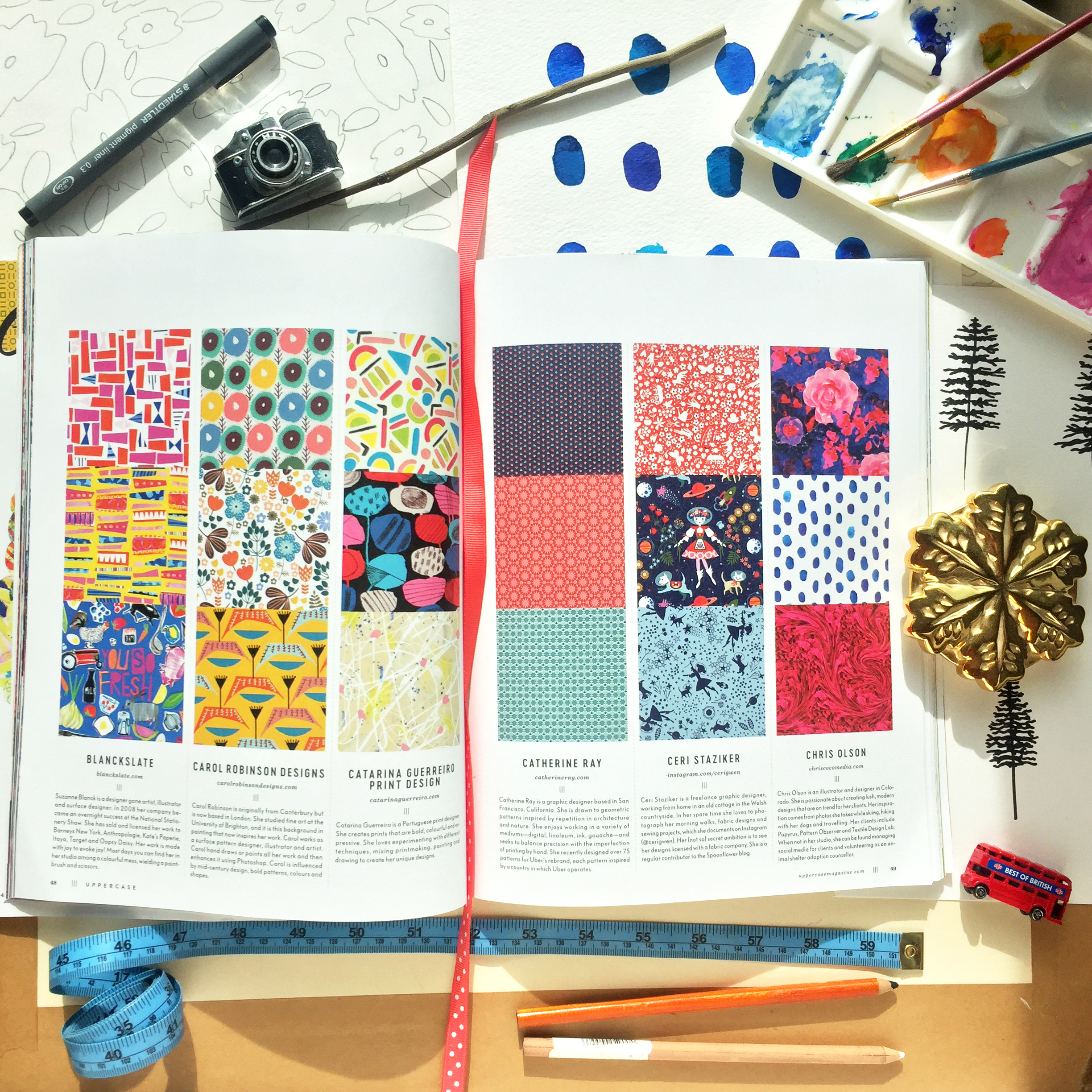 Chris Olson was recently selected to be featured in  Surface Pattern Design Guide  at UPPERCASE Magazine ( Issue no. 32).
