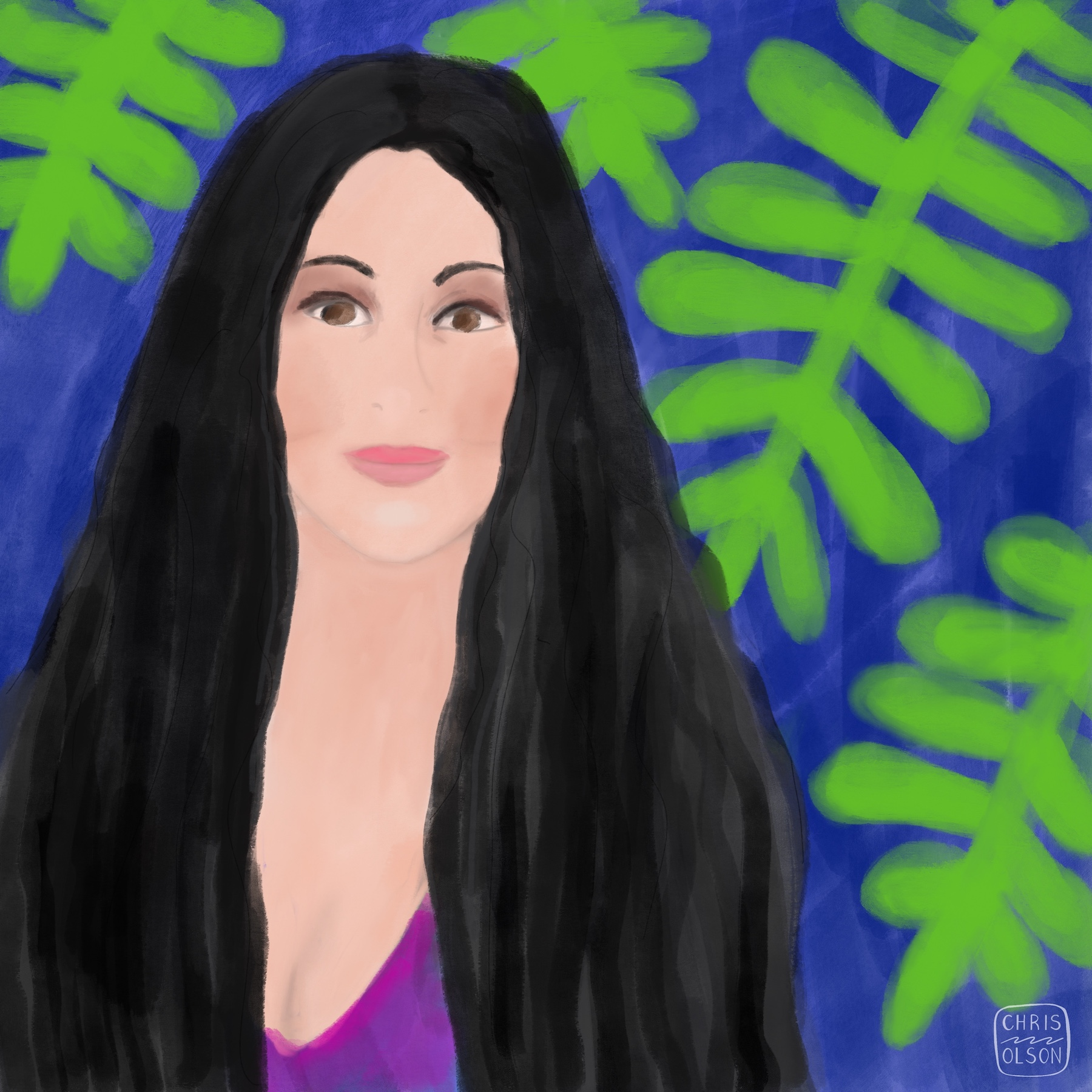 Cher portrait by Chris Olson