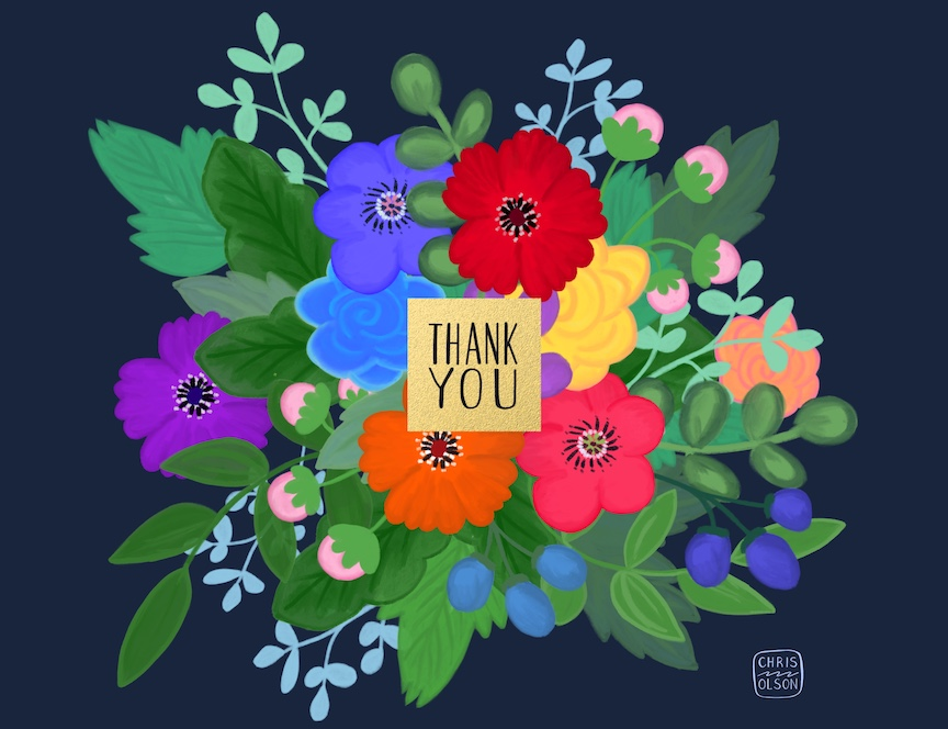 Thank You Bouquet by Chris Olson