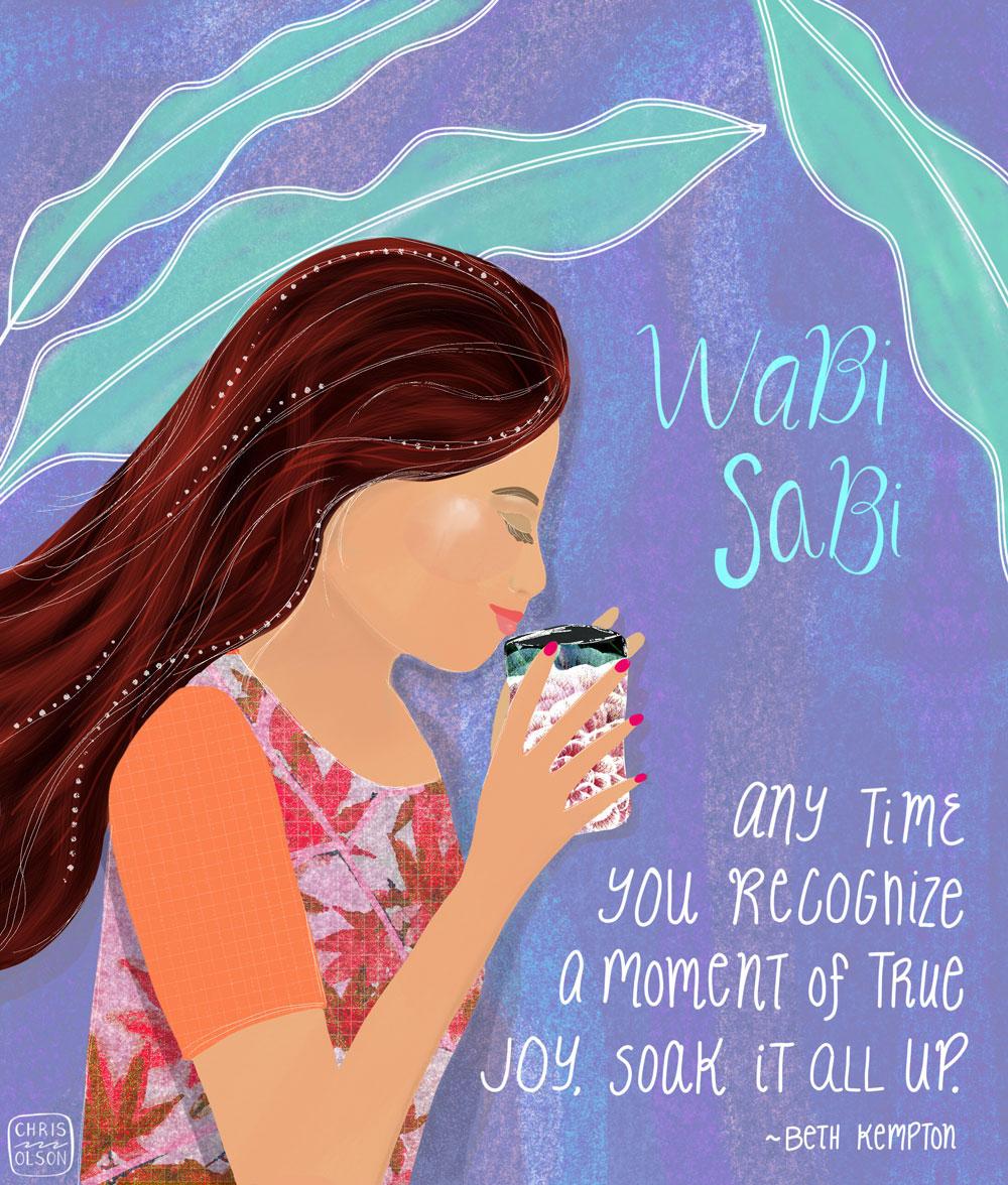 Wabi Sabi editorial illustration by Chris Olson