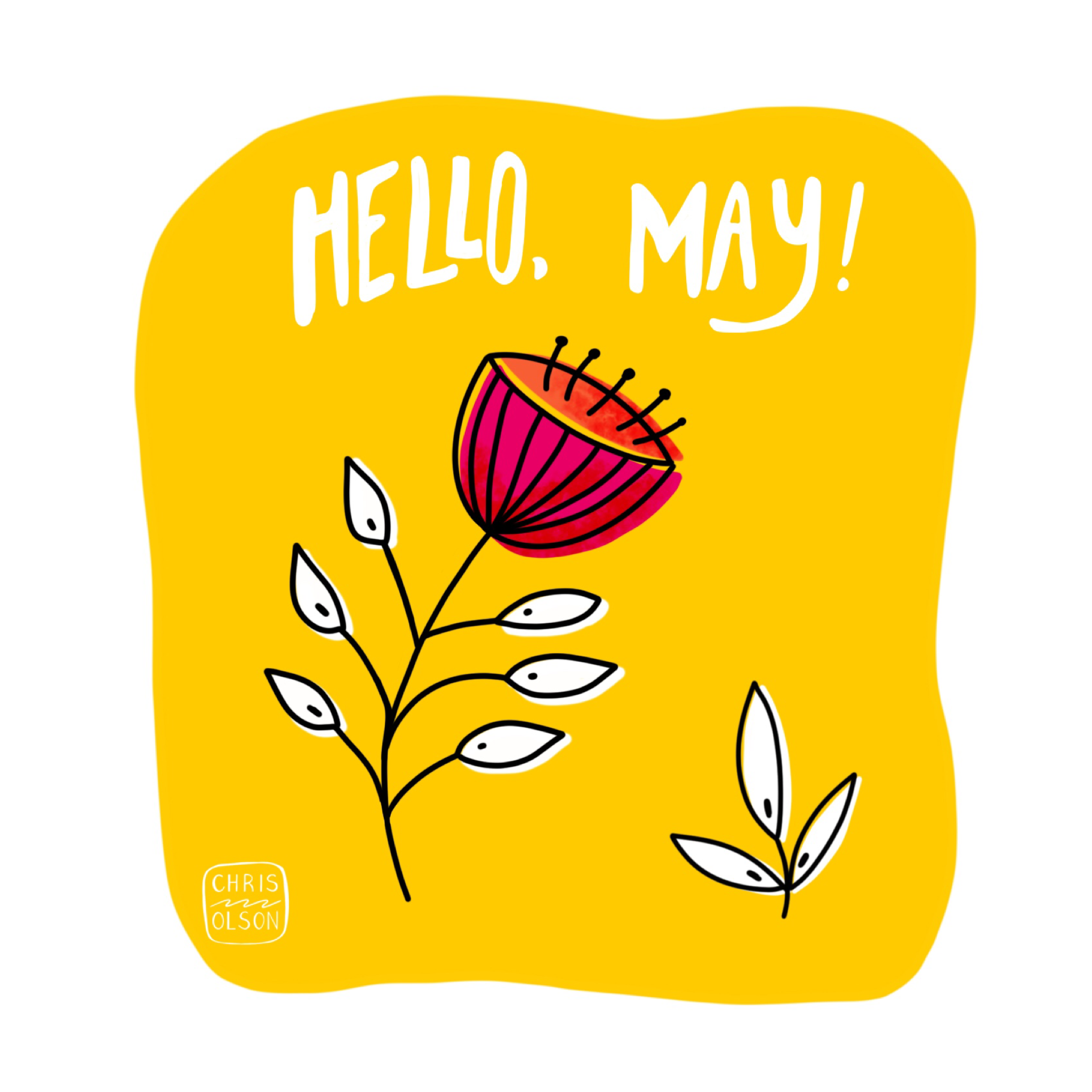 Hello May artwork by Chris Olson