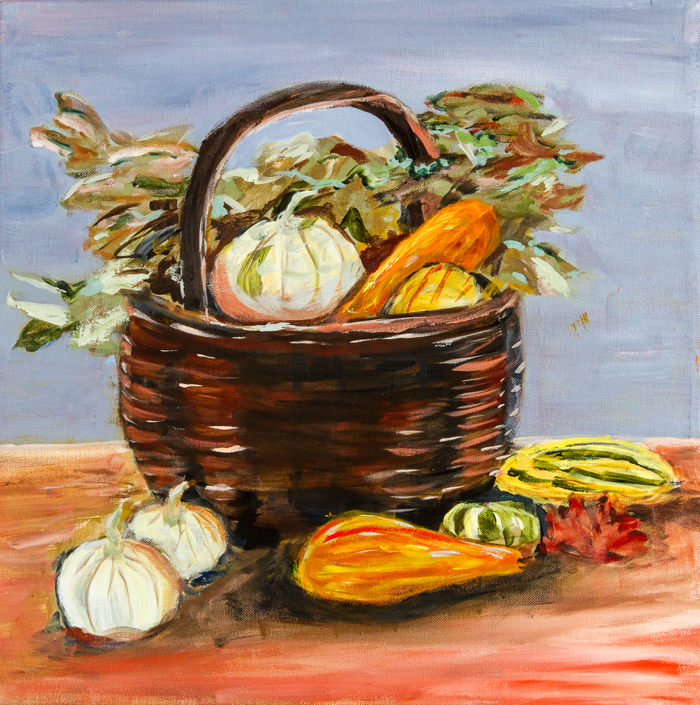 Fall Basket, Acrylic on Canvas, 16X24