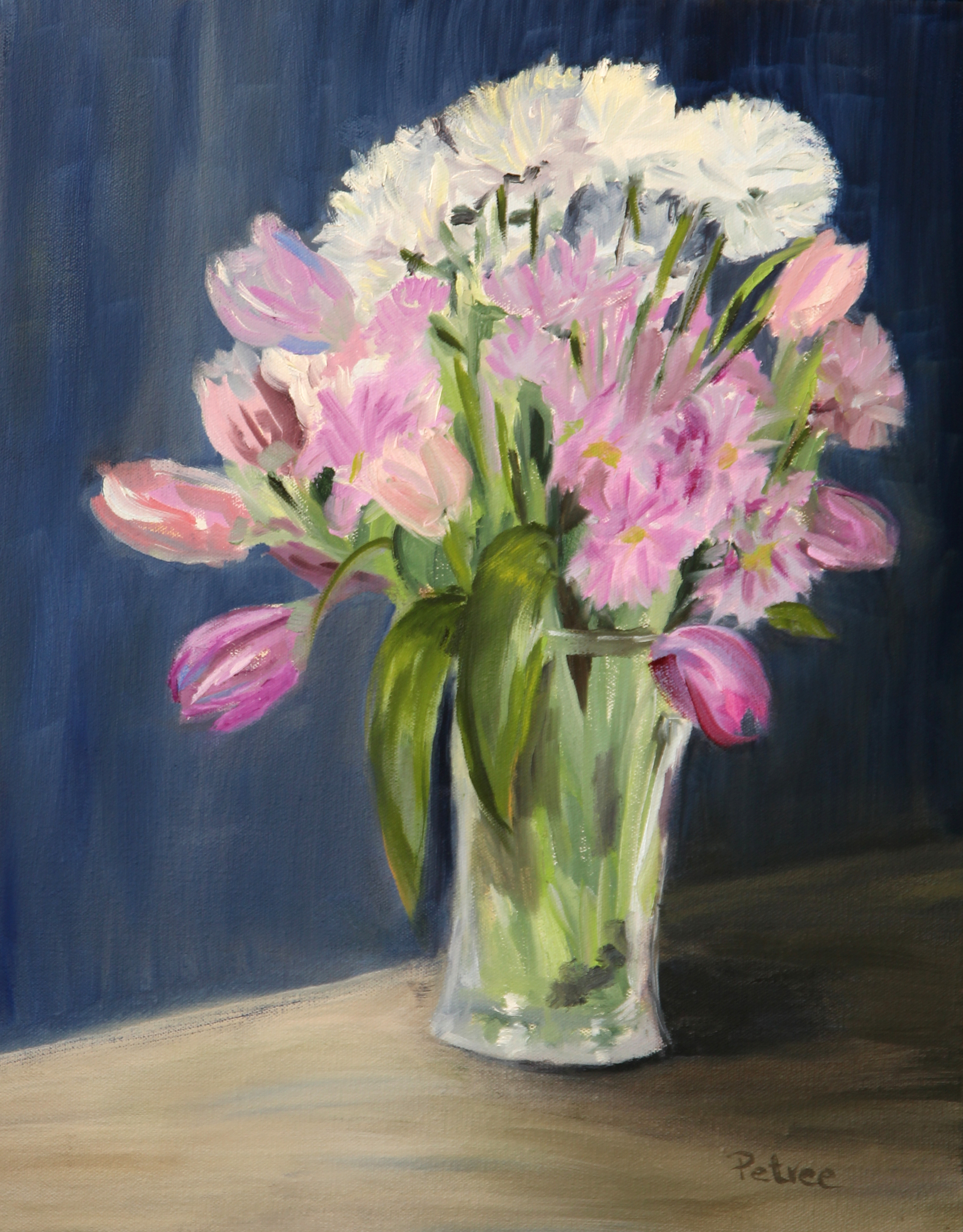 Flower Bouquet, Oil on Canvas, 16 X 20
