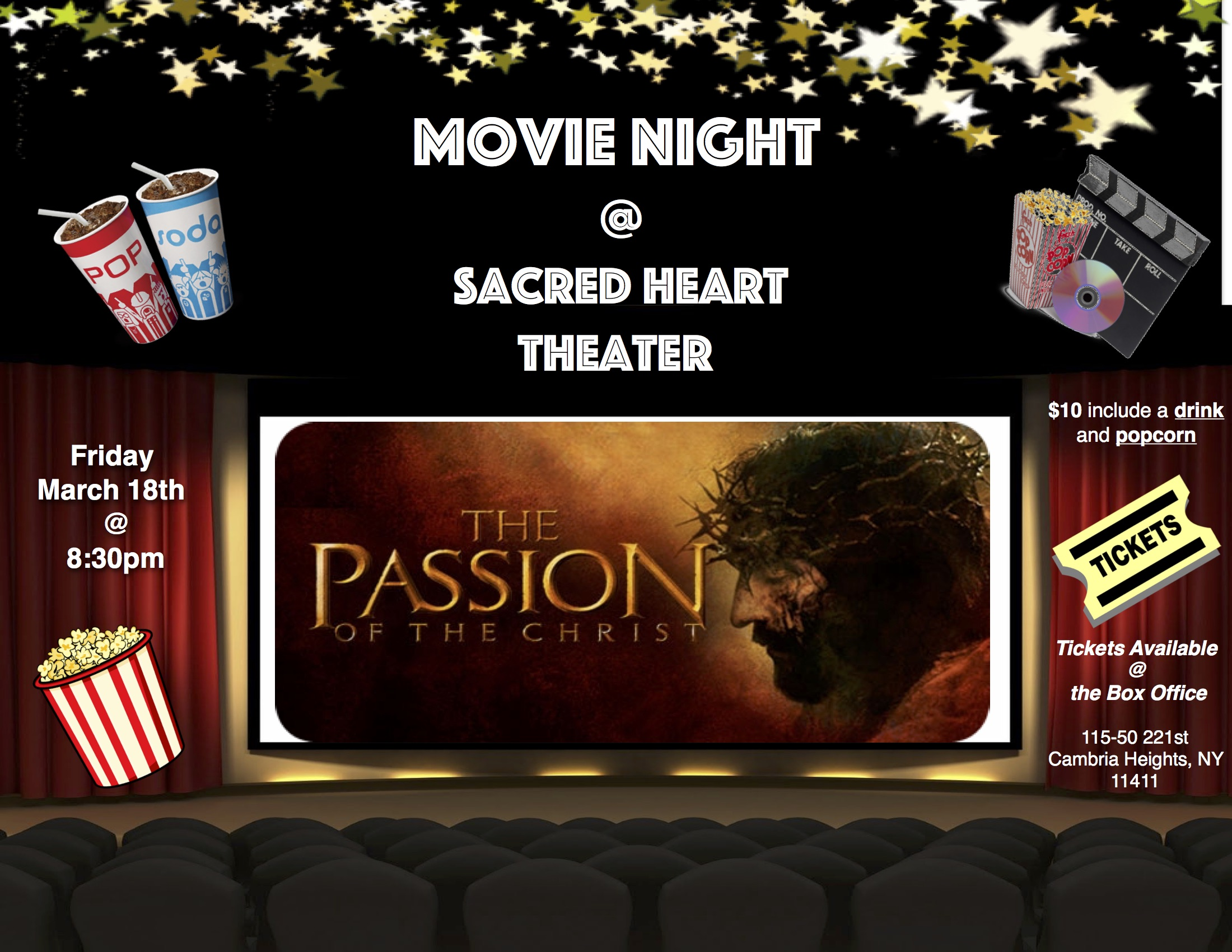 Movie Night: The Passion of the Christ — Sacred Heart of Jesus